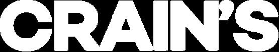 Crains logo white